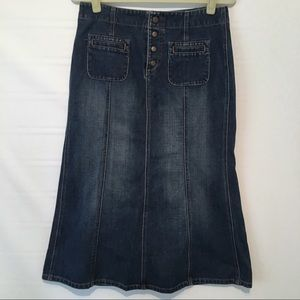 Gap Jeans Denim Modest Midi Skirt